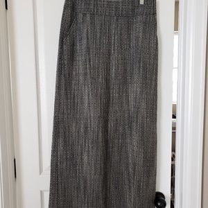 J. Crew Skirts - J Crew black and white wool maxi skirt